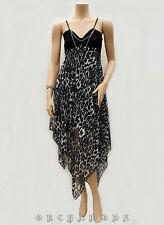 Robe Tunique Voile léopard collier Fête FR T UNIQUE = 38 40 42 44 46 NEUF Dress