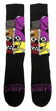 FIVE NIGHTS AT FREDDY'S STITCHED FACE MASHUP MENS CREW SOCKS BONNIE CHICA FOXY