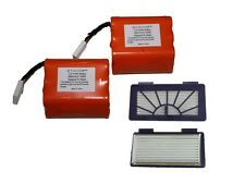 Super 3800mAh Battery 2-Pack+ 2 Pet Filter for Neato XV-11 14 15 21 25  Pro