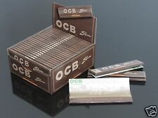 25 Booklets OCB 110mm Slim King Size UNBLEACHED VIRGIN Paper Rolling Papers #799