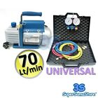 3S NEW REFRIGERATION A/C KIT Vacuum PUMP 2.5 CFM & MANIFOLD GAUGE SET 2 WAYS