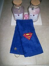 Personalized embroidered golf towel with Superman logo -Fathers day gift