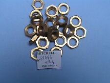 24 ECROUS BOL DORE 498 & autres MOULINETS MITCHELL BRASS HEX NUT REEL PART 81486