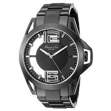 Kenneth Cole 10022527 Men's Black Dial Black IP Bracelet Watch