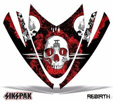 SIKSPAK Sled Hood Wrap Graphic Decal Arctic Cat M Series Snowmobile REBIRTH RED