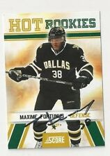 10/11 Score Rookie Autographed Hockey Card Maxime Fortunus Dallas Stars