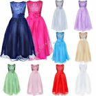 Flower Girl Princess Pageant Wedding Party Formal Birthday Kids Prom Tulle Dress