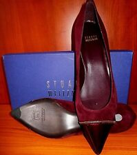 NEW $380 STUART WEITZMAN ZipTip BORDEAUX SUEDE SHOES MADE IN SPAIN size 8,5 M