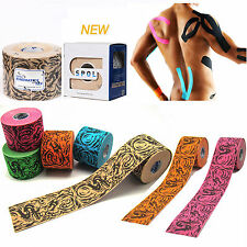 SPOL 5 Rolls 5CMx5M Tattoo Kinesiology Sports Tape Muscle pain care therapy tex