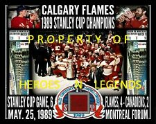 11x14 * CALGARY FLAMES MAY 25 1989 STANLEY CUP CHAMPIONS MONTREAL FORUM RED SEAT