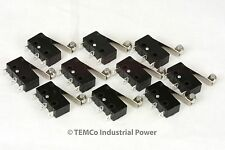 10 pc TEMCo Micro Limit Switch Roller Arm Subminiature SPDT Snap Action LOT