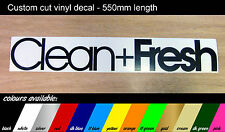 Clean + Fresh  - Large Decal  - VW / VAG / DUB / JDM sticker - 550mm