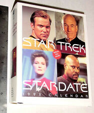 STAR TREK 1999 DESK CALENDAR UNUSED