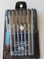 Copic Multiliner Inking drawing Pens Set A-2 BLACK waterproof pigment ink