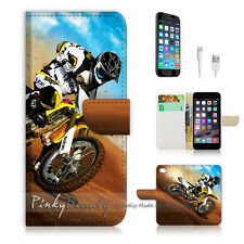 iPhone 6 6S Plus (5.5') Flip Wallet Case Cover! P0043 Motorcycle