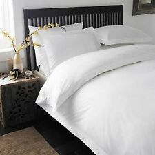 DOUBLE SIZE WHITE SOLID DUVET SET+FITTED SHEET 1000 TC 100% EGYPTIAN COTTON