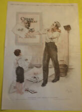 Cream of Wheat Artist & Boy Ad 1920 Mead Bikes Ad Page Great Picture! Nice See!