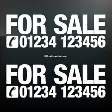 2x FOR SALE + PHONE NUMBER Custom Car,Van,Window Vinyl Sign Decal Sticker
