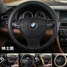 "38cm 15"" Foaming Pressure Hole Leather Car Steering Wheel Cover Protector Holder"