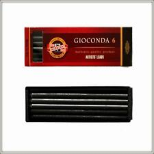 KOH-I-NOOR GIOCONDA SET OF 6 LEADS 5.6mm BLACK Artist's Drawing 4869/II