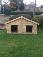 DOUBLE WOODEN DOG KENNEL TANALISED PRESSURE TREATED 4FT x 6FT