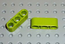 LEGO - TECHNIC - LIFTARM, Thick 1 x 3 LIME x 2 (32523) TK512
