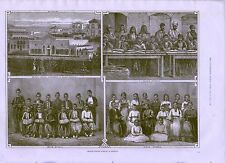 1875 BRITISH SYRIAN SCHOOLS AT BEYROUT COSTUMES BEIRUT