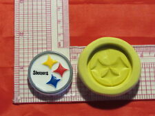 NFL Football Pittsburgh Steelers Logo Silicone Push Mold 411 Chocolate Candy wax