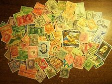 100 Different Pre-Decimal Stamps from New Zealand - Free Shipping