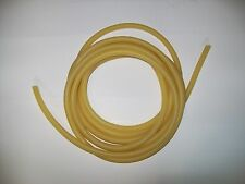 """3 FEET  3/8"""" I.D x1/16"""" w x 1/2 O.D Surgical Latex Rubber Tubing amber"""