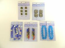 GLASS BEADS FOR JEWELRY MAKING - LOT OF 10 PACKAGES