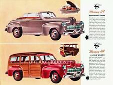 Old Print.  1946 Mercury 114 Convertible & Station Wagon (Canadian) - Autos