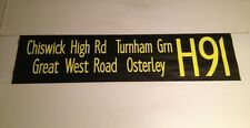 """Shep 1002 Bus Blind 42""""-H91Chiswick High Road Turnham Green Great West Osterley"""