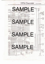 "1976 FORD BRONCO ""U"" MODEL U100 76 WIRING GUIDE CHART DIAGRAM 2PGS"