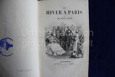 altes Buch Un Hiver A Paris  M. Jules Janin 11 Stahl Stiche  1883