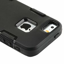 For Apple iPhone 5 5S SE Hybrid Rugged Rubber Hard Shockproof Case Cover