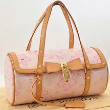 Auth Louis Vuitton Monogram Cherry Blossom Papillon Hand Bag Pink M92010 #S2914