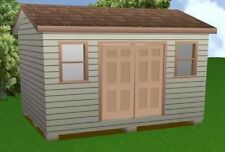 12x16 Storage Shed Plans Package, Blueprints, Material List & Instructions
