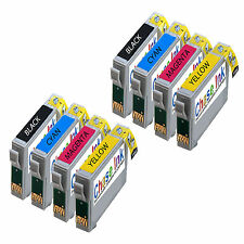 2 Sets T0715/TO715 - 8 Compatible Ink Cartridges For Epson S20 S21
