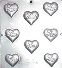 """Love"" on Heart Chocolate Candy Mold Valentine  3064 NEW"