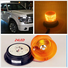 12V 24 LED Auto Car Warning Light Amber Flashing Strobe Beacon Emergency Light