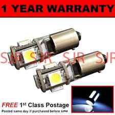 BA9s T4W 233 CANBUS ERROR FREE WHITE 5 LED SIDELIGHT BULBS X2 HID SL101401