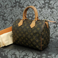 Rise-on LOUIS VUITTON MONOGRAM SPEEDY 25 Handbag Satchel Purse #259