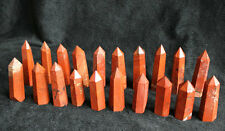 20 NICE NATURAL RED JASPER QUARTZ CRYSTAL POINTS HEALING Africa