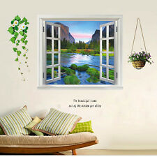 Wall Sticker Adesivo Murale Muro Parete 3D Vista Valle Natura Decal Deco 60x90cm