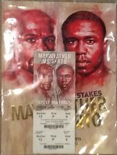 FLOYD MAYWEATHER FINAL FIGHT VS ANDRE BERTO DUAL Signed  $1500 TICKET w/program