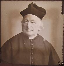 Glass Magic Lantern Slide UNIDENTIFIED CATHOLIC CARDINAL NO2 C1900 PHOTO