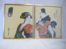 Antique framed Chinese art painting on SILK HAND WORKED Signed