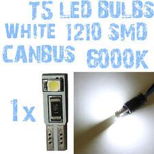 N° 1 LED T5 CANBUS Wit 6000K SMD 1210 Koplampen Angel Eyes DEPO FK 12v 2A2 2A2-1