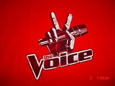 Mens Womens-The Voice TV Show-Red -T-Shirt-L